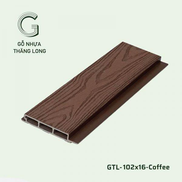 Gỗ Nhựa Ngoài Trời GTL-102x16-Coffee
