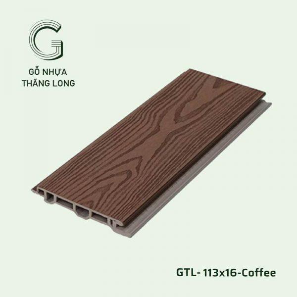 Gỗ Nhựa Ngoài Trời GTL-113x16-Coffee
