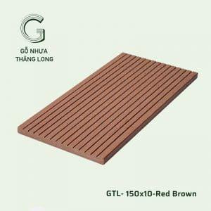 Gỗ Nhựa Ngoài Trời GTL-150x10-Red Brown