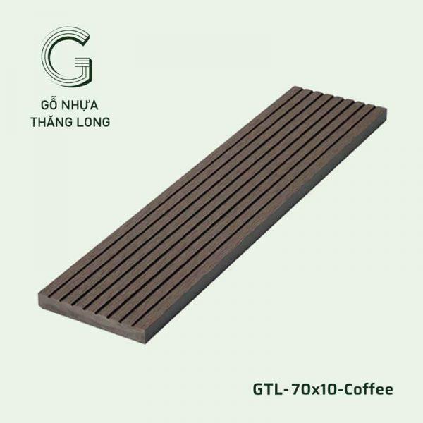 Gỗ Nhựa Ngoài Trời GTL-70x10-Coffee