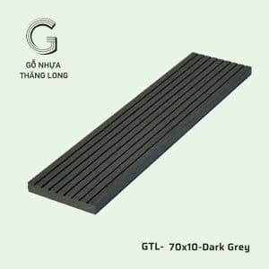 Gỗ Nhựa Ngoài Trời GTL-70x10-Dark Grey