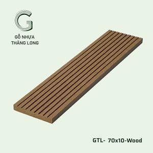 Gỗ Nhựa Ngoài Trời GTL-70x10-Wood