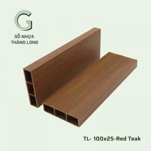 Lam Gỗ Nhựa Ngoài Trời TL-100x25 Red Teak