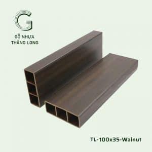 Lam Gỗ Nhựa Ngoài Trời TL-100x35 Walnut