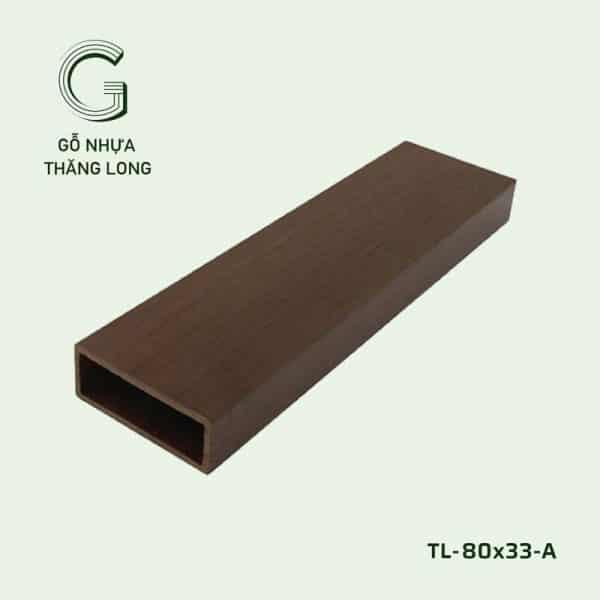 Lam Gỗ Nhựa Ngoài Trời TL-80x33-A