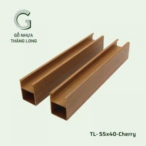 Thanh Lam Gỗ Nhựa TL55x40 Cherry