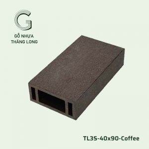 Lam Gỗ Nhựa Ngoài Trời TL3S-40x90-Coffee