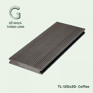 Sàn Gỗ Nhựa Ngoài Trời TL-120x20- Coffee