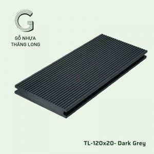 Sàn Gỗ Nhựa Ngoài Trời TL-120x20- Dark Grey