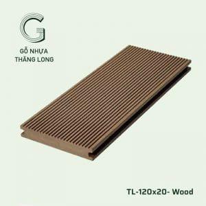 Sàn Gỗ Nhựa Ngoài Trời TL-120x20- Wood