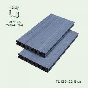 Sàn Gỗ Nhựa Ngoài Trời TL-139x22-Blue