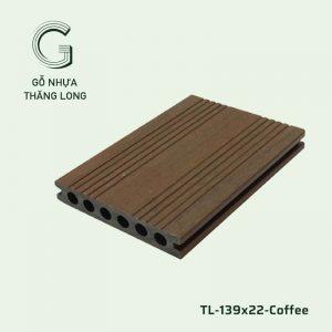 Sàn Gỗ Nhựa Ngoài Trời TL-139x22-Coffee