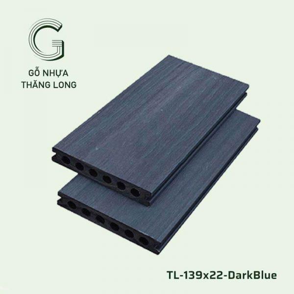 Sàn Gỗ Nhựa Ngoài Trời TL-139x22-DarkBlue