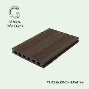 Sàn Gỗ Nhựa Ngoài Trời TL-139x22-DarkCoffee