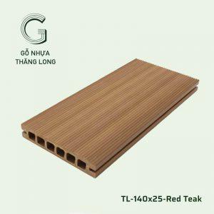 Sàn Gỗ Nhựa Ngoài Trời TL-140x25-Red Teak