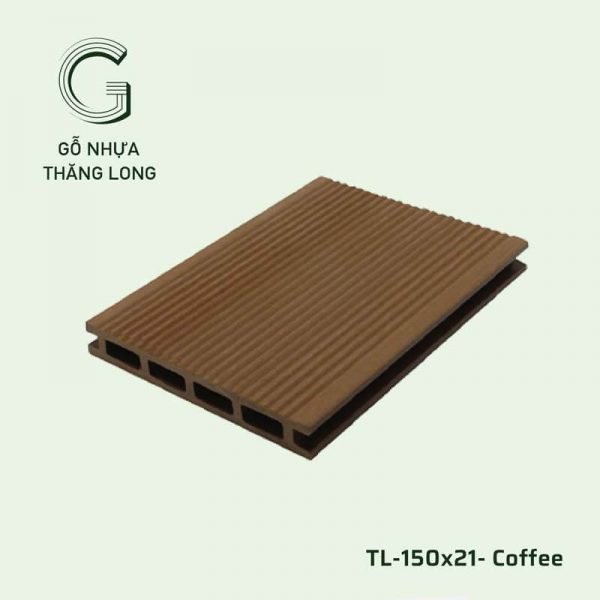 Sàn Gỗ Nhựa Ngoài Trời TL-150x21- Coffee
