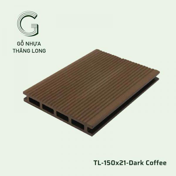 Sàn Gỗ Nhựa Ngoài Trời TL-150x21-Dark Coffee