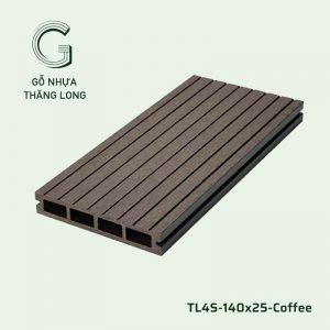 Sàn Gỗ Nhựa Ngoài Trời TL4S-140x25-Coffee