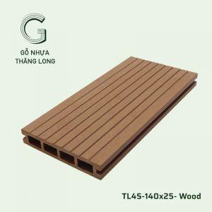 Sàn Gỗ Nhựa Ngoài Trời TL4S-140x25- Wood