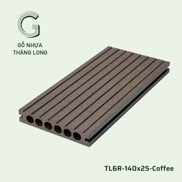 Sàn Gỗ Nhựa Ngoài Trời TL6R-140x25-Coffee