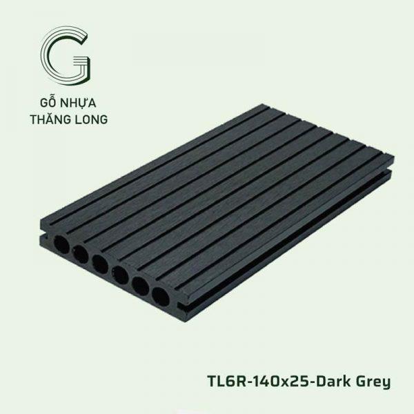 Sàn Gỗ Nhựa Ngoài Trời TL6R-140x25-Dark Grey
