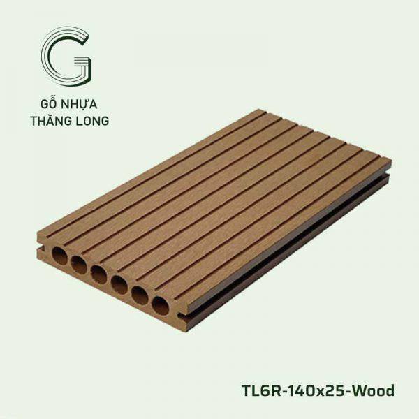 Sàn Gỗ Nhựa Ngoài Trời TL6R-140x25-Wood