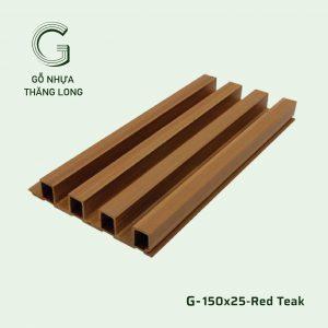 Tấm Ốp Lam Sóng G-150x25-Red Teak