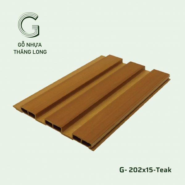 Tấm Ốp Lam Sóng G-202x15-Teak