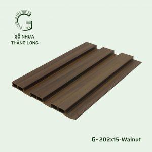 Tấm Ốp Lam Sóng G-202x15-Walnut