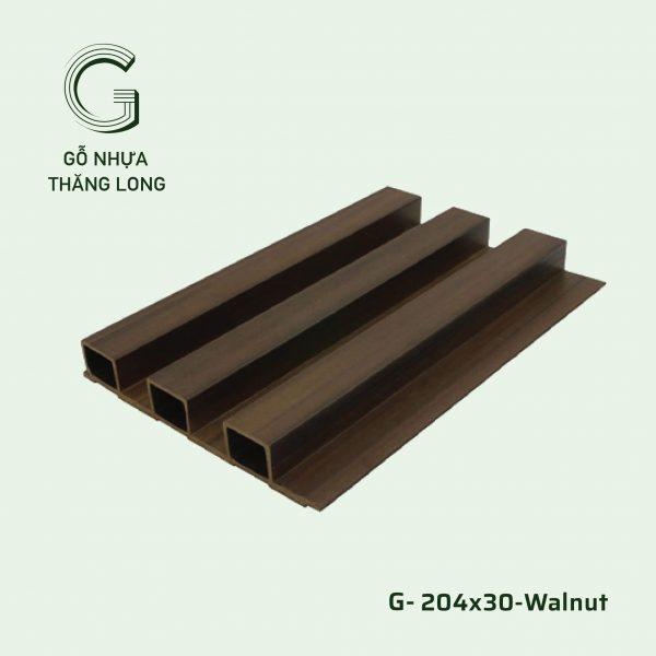 Tấm Ốp Lam Sóng G-204x30-Walnut