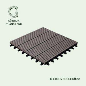 Vỉ Gỗ Nhựa DT300x300 Coffee