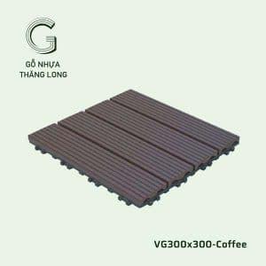 Vỉ Gỗ Nhựa VG300x300 Coffee