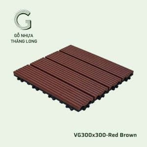 Vỉ Gỗ Nhựa VG300x300 Red Brown