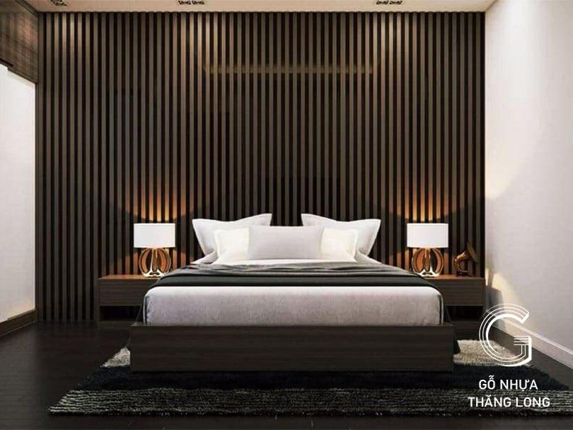 Ốp Tường Lam Sóng Phòng Ngủ