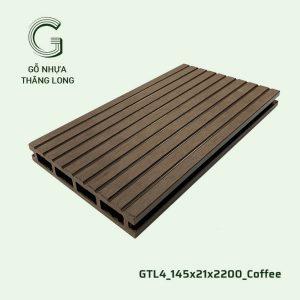Gỗ Nhựa Ngoài Trời GTL4_145X21X2200_Coffee