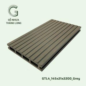 Gỗ Nhựa Ngoài Trời GTL4_145X21X2200_Grey
