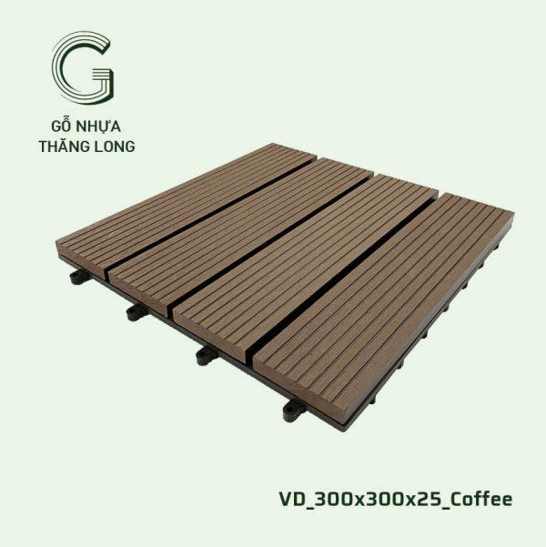 Gỗ Nhựa Ngoài Trời VD_300X300X25_Coffee