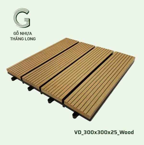 Gỗ Nhựa Ngoài Trời VD_300x300x25_Wood