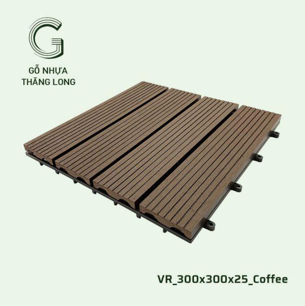 Gỗ Nhựa Ngoài Trời VR_300X300X25_Coffee