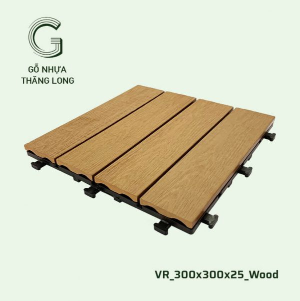 Gỗ Nhựa Ngoài Trời VR_300X300X25_Wood