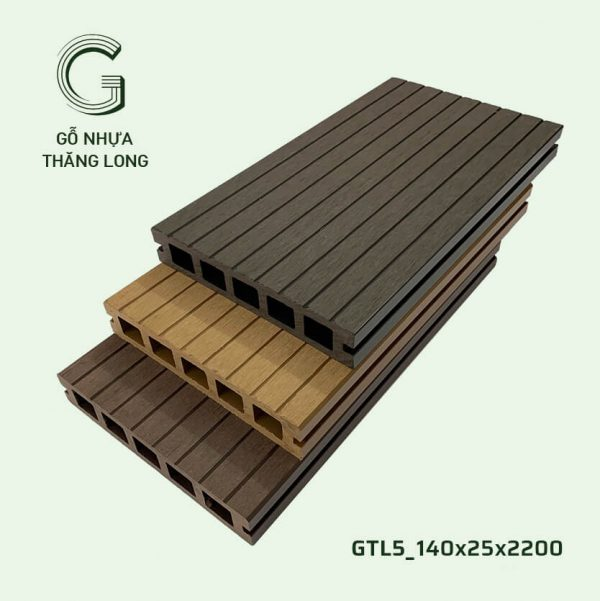 Sàn Gỗ Nhựa Ngoài Trời GTL5_140X25X2200