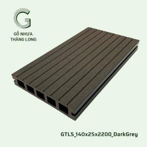 Sàn Gỗ Nhựa Ngoài Trời GTL5_140X25X2200_DarkGrey