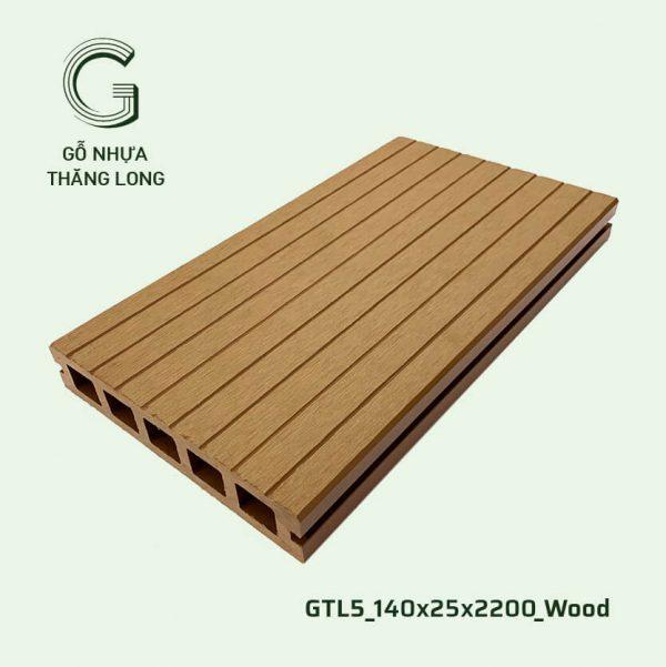 Sàn Gỗ Nhựa Ngoài Trời GTL5_140X25X2200_Wood