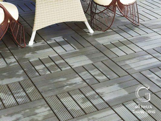 Sàn gỗ nhựa ban công là lựa chọn của nhiều gia chủ