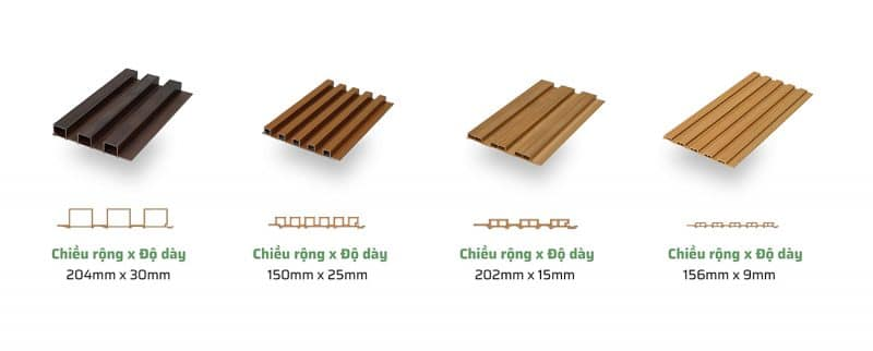 Quy cách tấm gỗ nhựa ốp tường phòng khách