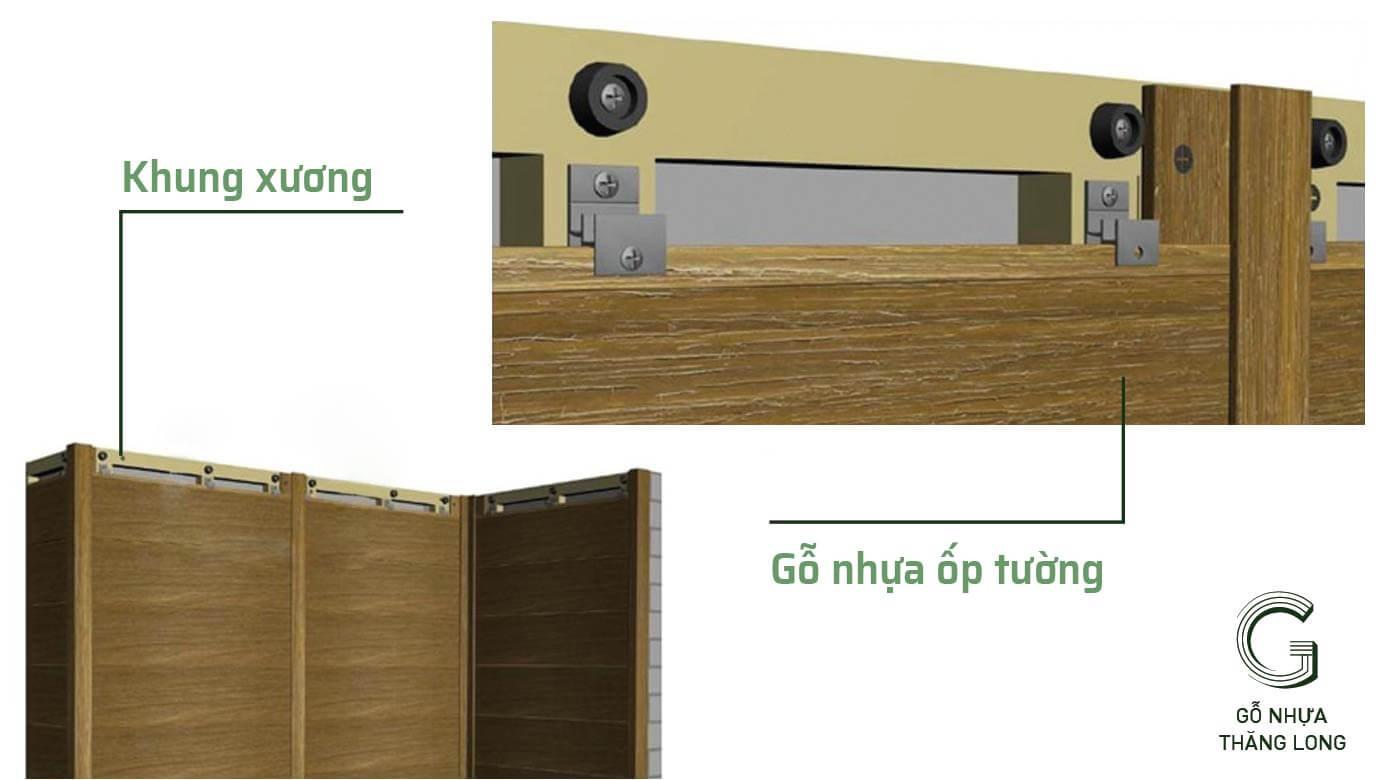 Bước 2: Lắp Đặt Khung Xương Ốp Tường